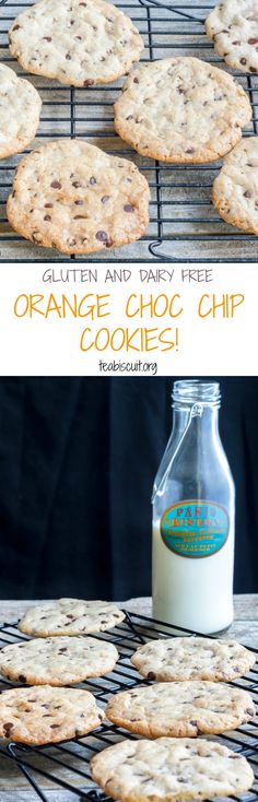 Gluten and Dairy Free Orange Chocolate Chip Cookies! | teabiscuit.org