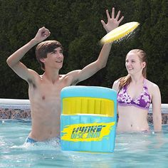 Aqua Crush Disc Game is the ultimate outdoor game for pool, backyard or your beach Lightweight, durable-inflatable cans Jam Games, Flying Disc, Go Game, Pool Games, Pool Toys, Water Toys, Canadian Tire, Outdoor Games, Program Design