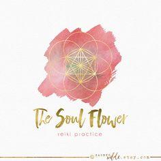 Samen des Lebens-Logo-Design Flower of Life-Logo von SacredWilde