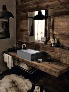 DuPont Corian, Lavabo ve Eviye Koleksiyonunu Yeniliyor Man Bathroom, Bathroom Basin, Bathroom Furniture, Bathroom Interior, Bathroom Ideas, Design Bathroom, Mad About The House, Rustic Chic, Rustic Wood