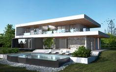 3D House exterior day shot // Vue 3D extérieure jour / Maison Crisalis / Villa ---> @Gizmo.immo ★ www.gizmo.immo ★ #3D #Immobilier #Design #Architecture #RealEstate #Home