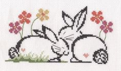 Love Bunnies cross stitch by Lil-Samuu.deviantart.com on @deviantART