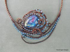 Glass and Wired Collar | JewelryLessons.com