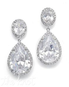 Serendipity Tiaras & Jewelry - CZ Pear Shaped Drop Earrings - Jewelry