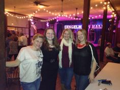 Schulenburg Chamber of Commerce Members' Social, located at Historic Sengelmann Dance Hall; persons include (left to right) Christine Galipp representing The Shop Downtown Cafe, Nicole Gabler representing Boys and Girls Club of Champion Valley, Melissa Henderson representing Missy T's Boutique, and Lindsi Graham representing The Weimary.