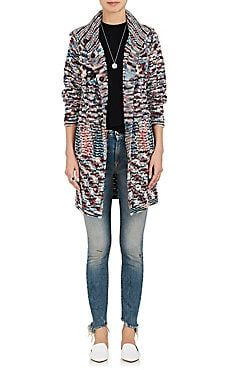 Mixed-Knit Cashmere Cardigan