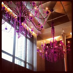 Check out the dramatic chandeliers in our lobby. Image by @reggiesaaa.