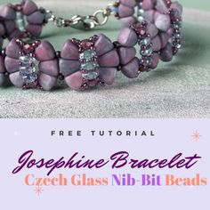 FREE Tutorial! We at CzechBeadsExclusive have chosen for you Czech glass Nib-Bit beads in 42 most popular bead finishes: Picasso, new amazing Nebula finish, eye-catching metallic Metalust covering, Matte and Luster finishes. Magnificent shine of each single piece is more visible and bright than classic pressed beads has, it's on the level of…