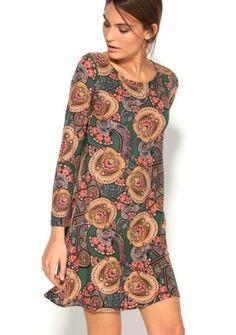 Šaty s kašmírovým dizajnom #ModinoSK Blouse, Casual, December, Dresses, Women, Fashion, Printed Gowns, Sportswear, Linens