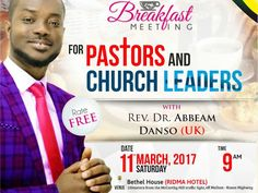Welcome to Emmanuel Donkor's Blog    www.DonkorsBlog.Com                                        : Pastors, Church Leaders & Others for Special 'Brea...