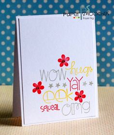 Card by PS DT Kryssi Ng using the PS stamps set Qwick Qwips