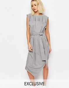 House of Sunny Tie Front Dress