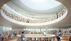 Rendering for Herzog & de Meuron's National Library of Israel