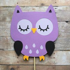 Owl Cake Topper- smash cake, first birthday