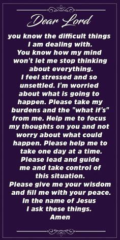 Powerful Prayer in times of Stress and Anxiety – Let Us Pray Prayer Scriptures, Bible Prayers, Faith Prayer, God Prayer, Prayer Quotes, Novena Prayers, Scripture Quotes, Encouragement Quotes, Prayer For Stress