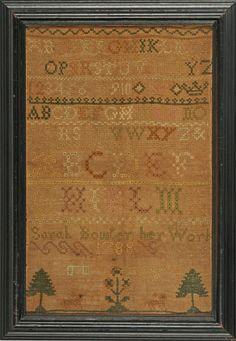 1788 Sampler, Sarah Bowler, NH, Stephen & Carol Huber, Old Saybrook, CT
