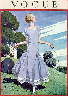 Vintage Illustration 1925 - You'll Love These Illustrated Vintage 'Vogue' Covers - Photos - 1925 - Capas Vintage Da Vogue, Vogue Vintage, Vintage Vogue Covers, Vintage Mode, Vintage Fashion, Vintage Art, Moda Vintage, Vintage Posters, 20s Fashion