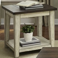 Shop a great selection of Liberty Furniture INDUSTRIES Lancaster End Table, 24 x 24 x 24 , Weathered Bark Finish/White. Find new offer and Similar products for Liberty Furniture INDUSTRIES Lancaster End Table, 24 x 24 x 24 , Weathered Bark Finish/White. White End Tables, Rustic End Tables, Diy End Tables, Living Room End Tables, Sofa End Tables, End Tables With Storage, Living Room Furniture, Home Furniture, Furniture Design