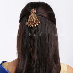 Saree Brooch, Hair Brooch, Hair Jewelry, Bridal Jewelry, India Jewelry, Hair Accessories For Women, Bridal Hair Accessories, Fashion Jewellery Online, Hair Beads