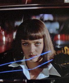 "Uma Thurman in ""Pulp Fiction"" Mia Wallace, Quentin Tarantino, Tarantino Films, Pulp Fiction Costume, Pulp Fiction Art, The Best Films, Great Films, Series Movies, Film Movie"