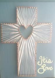 heart-cross string art pattern