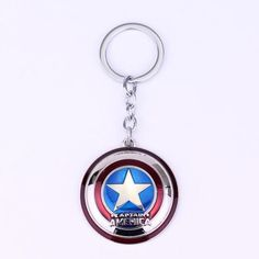 a80bd6ca8af Hot Marvel Comics Super Hero Captain America The Avengers KeyRing Keychain  Vingadores Da Marvel