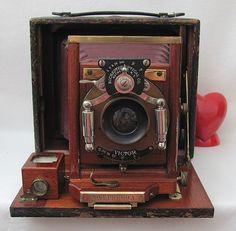 Antique Historic Pony Premo A Camera - Rochester Optical 1896 - 1902.