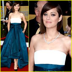 This is perfect. Love the length, love the waist, love the makeup. Nailed it. Marion Cotillard, S.A.G. Awards