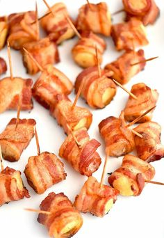 Best Appetizer Recipes With Bacon.Brown Sugar Bacon Wrapped Smokies Spend With Pennies. Spicy Stuffed Peppers With Bacon Cheese Tatyanas . Bacon Wrapped Foods Better With Bacon Food Network. Finger Food Appetizers, Yummy Appetizers, Appetizers For Party, Appetizer Recipes, Appetizer Ideas, Bacon Wrapped Appetizers, Party Finger Foods, Easy Summer Appetizers, Summer Finger Foods