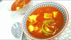 ZUPPA CURRY CECI E PORRI_SENZA LATTOSIO_VEGAN Tofu, Thai Red Curry, Ethnic Recipes
