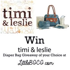 timi and leslie diaper bag #giveaway of your choice via @Christa
