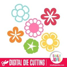 This set of assorted flowers design is ideal for scrapbooking, card making, or to add a special touch to gift wrapping. Digital die cutting files are designed specifically with cutting machines in mind. Use them with programs such as your Silhouette, Cricut (SCAL/MTC), Pazzles, Klick-n-Kut, Wishblade or any cutting machine that can use the following file formats: SVG, PDF, and DXF.