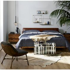 Easy Home Interior Design Tips That Anyone Can Implement – DecorativeAllure Home Decor Bedroom, Modern Bedroom, Diy Home Decor, Bedroom Ideas, Modern Beds, Master Bedroom, Home Decoration, Blue Bedroom, Diy Bedroom