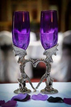 These are just so pretty! And of course my boyfriend and I love dragons, so we may just find these for our wedding.