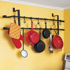 Make a pot rack from a vintage window guard, and other easy ways to upgrade your kitchen. Some really good ideas in here!