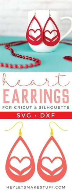 Use your Cricut to make these trendy these faux suede earrings — sweet hearts that are perfect for Valentine's Day. An easy Valentine's Day jewelry project.