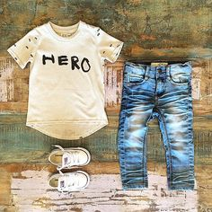 BOYS • Beau LOves hero tee, I Dig Denim Alabama jeans & low rise Converse Chuck Taylors. We have 25-30% OFF all Beau LOves clothing right now for our online EOFY sale, no code required • www.tinystyle.com.au