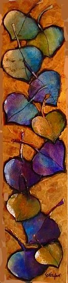 Aspen Leaf Series 10140 by Carol Nelson Acrylic ~ 24 x Aspen Leaf, Fall Art Projects, Daily Painters, Encaustic Art, Art Moderne, Leaf Art, Mixed Media Canvas, Learn To Paint, Tree Art