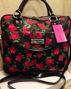 NWT Betsey Johnson Front Pocket Laptop Bag. Starting at $1 on Tophatter.com!