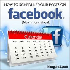 How to Schedule Your Posts on Facebook [New Information!] #facebook
