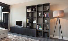 De Graaf Kasten op maat - Creatieve boekenkast, eiken zwart