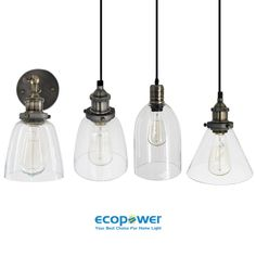 Vintage Industrial Ancient Clear Glass Pendant Light Household Wall Lamp Fixture 42.00 each