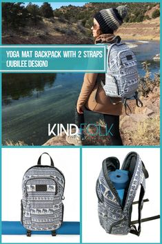 Yoga Mat Backpack with 2 Straps as seen on Yoga For Beginners Flexibility, Hard Yoga, Sports Headbands, Yoga Bag, Yoga Accessories, Yoga Sequences, Yoga Flow, Loving Your Body, Yoga Challenge