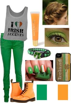 """Happy St.Patrick's Day!!!!!! :) "" by ebgleek ❤ liked on Polyvore"