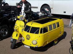 combination of vespa and vw van