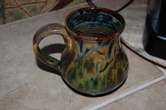 Green Ceramic Mug - I don't drink coffee, but this makes me want to.