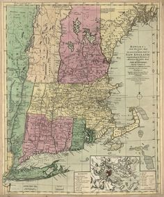 Map of the most inhabited part of New England by Carington Bowles circa 1780.