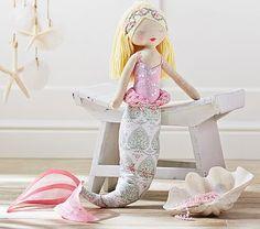 LOVE the details on this mermaid doll from pbkids!