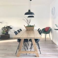 Winter House, Wooden Tables, Home Furniture, Dining Table, Minimalist, Hem, Salvia, Furnitures, Balcony