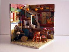 Handmade miniature scene 112 scale Desafinados by Pequeneces, €350.00